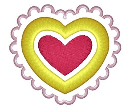 Fancy Valentines Day Heart embroidery design