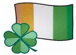 Irish Clover & Flag embroidery design