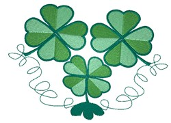 Three Clovers embroidery design