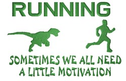 Running With Motivation embroidery design