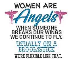 Women are Angels embroidery design