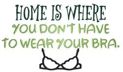 Home, No Bras embroidery design