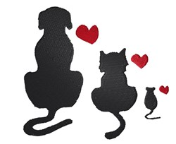 Animal Silhouette embroidery design