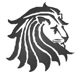 Lion Head Silhouette embroidery design