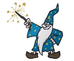 Wizard embroidery design