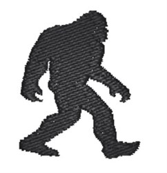 Bigfoot Silhouette embroidery design