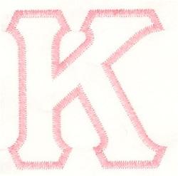 Greek Kappa Applique embroidery design