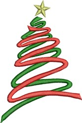 Ribbon Christmas Tree embroidery design