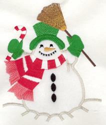 Jolly Snowman Applique embroidery design