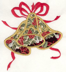 Bell Applique embroidery design