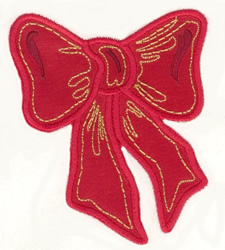 Bow Applique embroidery design