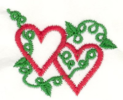 Leafy Heart embroidery design