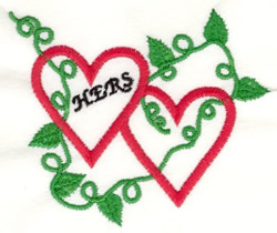 Leafy Her Heart embroidery design