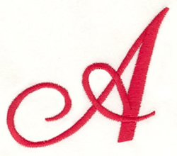 Fancy Monogram A embroidery design
