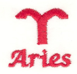 Aries Symbol embroidery design