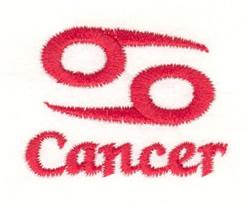Cancer Symbol embroidery design