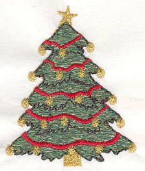 Traditional Christmas Tree embroidery design