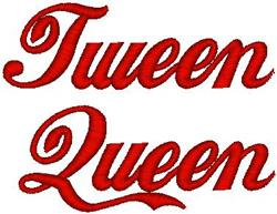 Tween Queen embroidery design