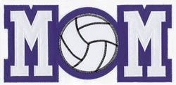 Volleyball MOM Applique embroidery design