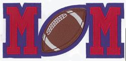 Football Mom Applique embroidery design
