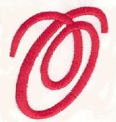 Elegant Letter O embroidery design