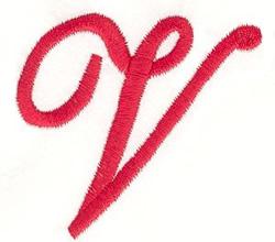 Elegant Letter V embroidery design