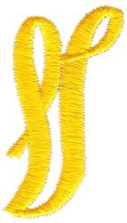 Swirl Monogram Letter V embroidery design