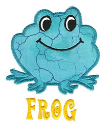 Frog Applique embroidery design