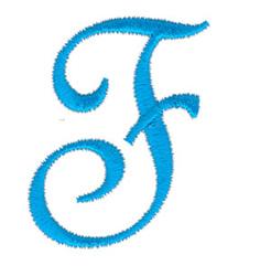 Classic Monogram Letter F embroidery design