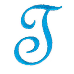 Classic Monogram Letter T embroidery design