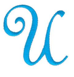 Classic Monogram Letter U embroidery design