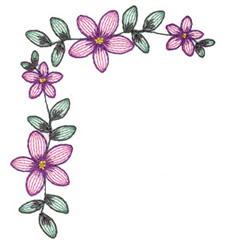Lacy Flower Corner embroidery design
