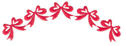 Ribbon and Bow Border embroidery design