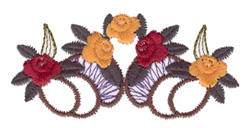 Fall Floral Motif embroidery design