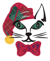 Hat Kitty Applique embroidery design