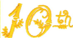 10th Birthday embroidery design