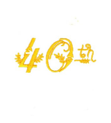 40th Birthday embroidery design