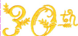 30th embroidery design