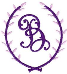 Crest Monogram B embroidery design