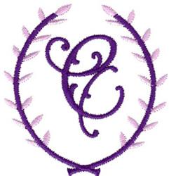 Crest Monogram C embroidery design