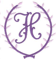 Crest Monogram H embroidery design