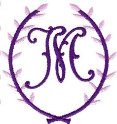 Crest Monogram M embroidery design