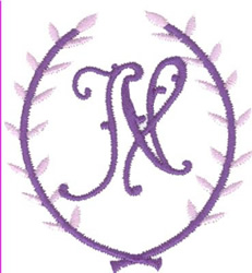 Crest Monogram N embroidery design