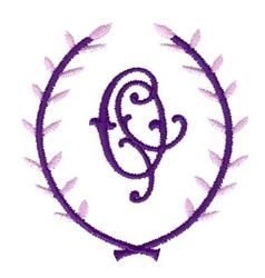 Crest Monogram O embroidery design