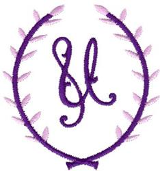 Crest Monogram U embroidery design