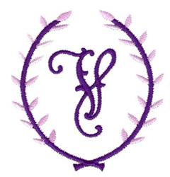 Crest Monogram V embroidery design