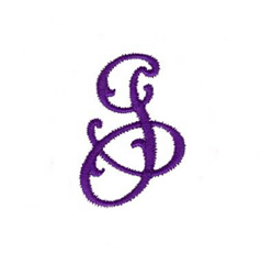 Elegant Vine Monogram J embroidery design