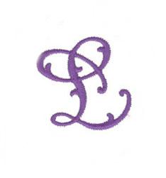 Elegant Vine Monogram L embroidery design