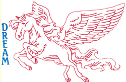 Pegasus embroidery design