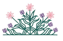 Flower Pocket Topper embroidery design